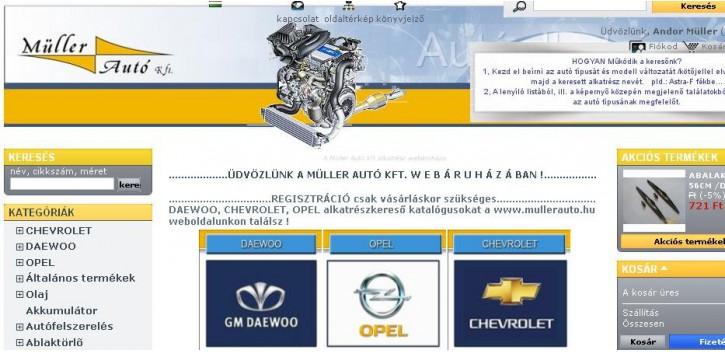 Daewoo webshop